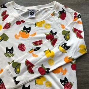 Anthropologie Baby Cats CA Fruit Cat Sweatshirt, M